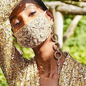 statement earring tassel jewelry fashion trend trendy earring earrings rhinestones fringe designer