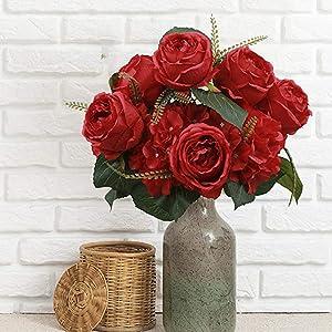 Season's Need Decor Mixed Peony and Hydrangea Artificial Flower Bouquet