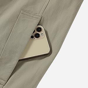 Slant side pocket