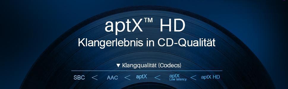 Unterstützt aptX HD