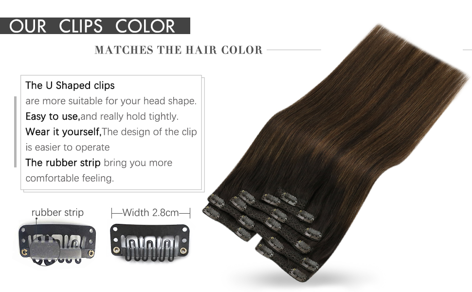 clip in hair extensions brown balayage
