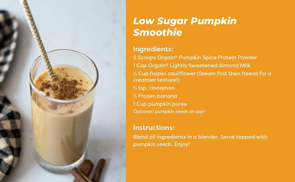 low sugar pumpkin smoothie recipe