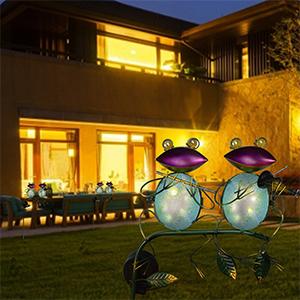 Solar Garden Frogs for Outside Decor