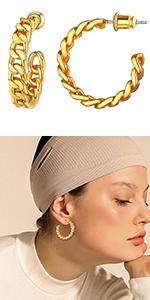 open cuff earrings