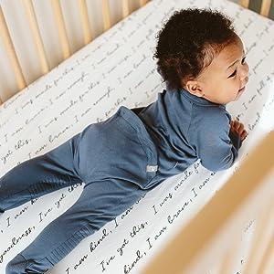 Easy diaper change baby pjs.