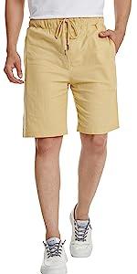 mens khaki shorts,linen shorts for men,mens white shorts,mens shorts drawstring,summer shorts men