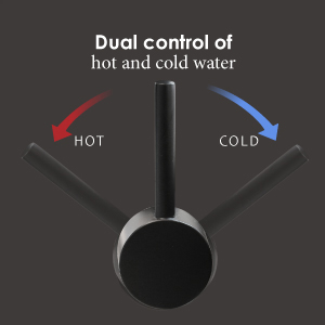 Dual control of hot and cold water