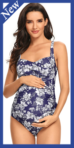 Maternity Twist Front Swimsuits