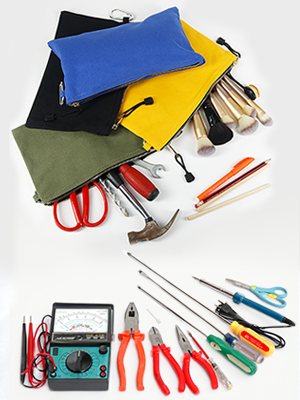 Canvas Zipper Tool Bags can be organized small, easily misplaced or tangle-prone parts