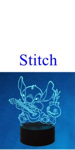 Veilleuse Stitch 3D