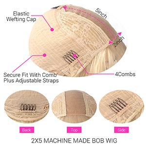 bob wigs human hair 613 color