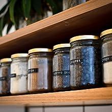 pantry spices, flours, baking soda