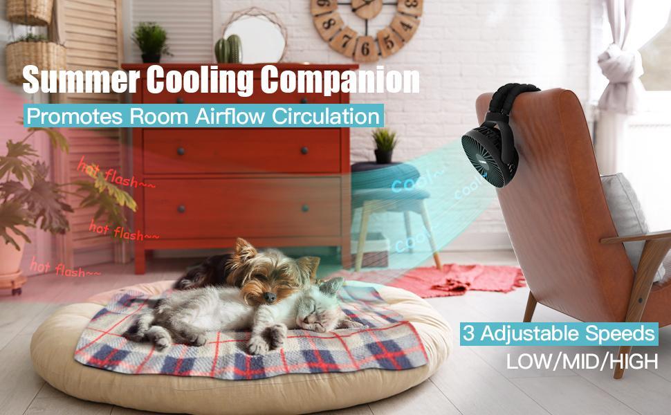 summer cool fan battery operated fan for home, office