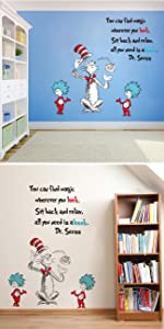 dr seuss wall decals insprirational quotes wall stickers