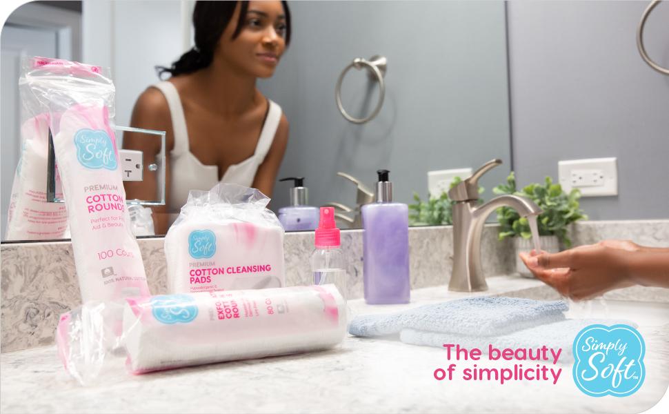 cotton pads rounds balls 100% pure makeup nail polish remover