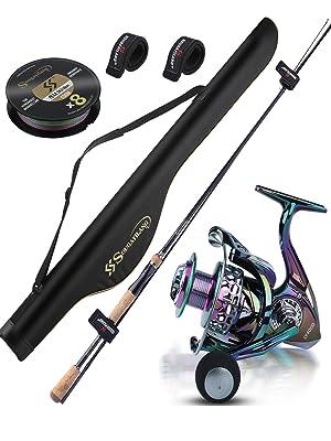 fishing rod reel and fishing bag