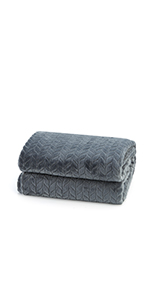 grey flannel fleece blanket