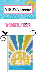 YISUYA hello sunshine summer garden flag