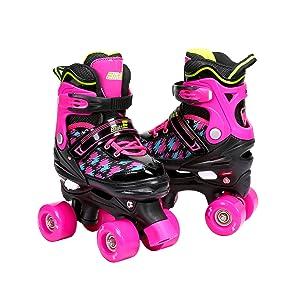 Purple Quad Skates for Children Girls