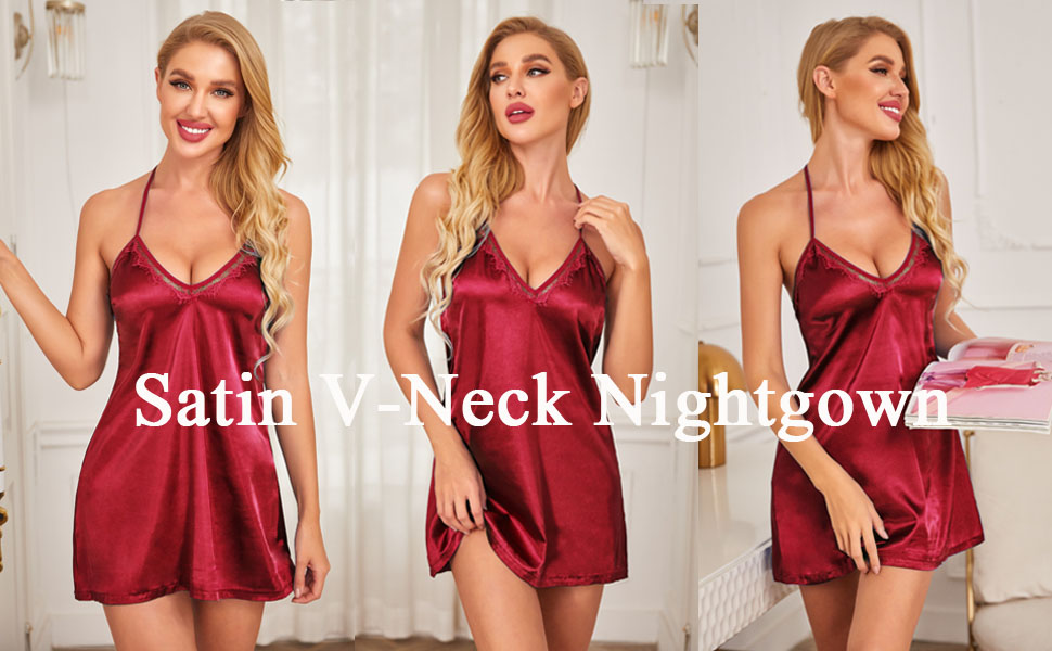 satin nightgown for women
