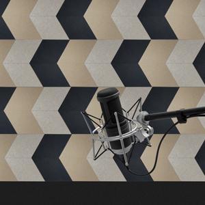 rhombus sound absorber for music studio room
