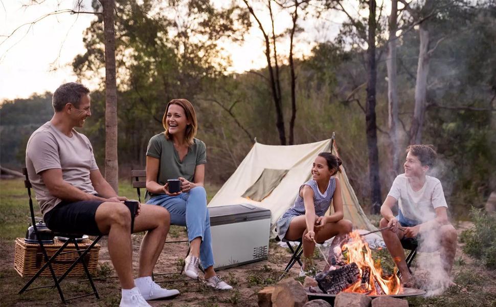 camping portable 12v fridge