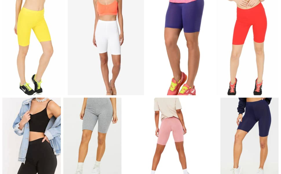 LUXE DIVA Womens Cycling & Dancing Ladies Cycle Cotton Lycra Shorts in Assorted Colors & Sizes