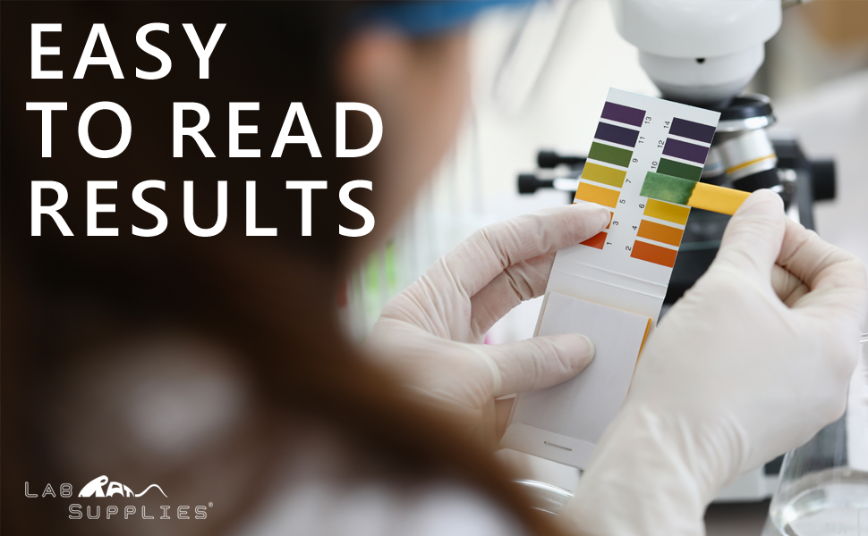 LabRat Supplies pH Test Strips, Universal Application Easy to Read Results