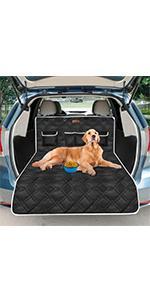 Kofferraumschutz für Hunde Schwarz+Grau