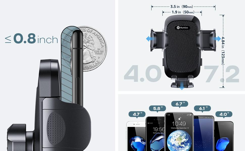 Humixx air vent car phone mount Compatible with most of cell phones