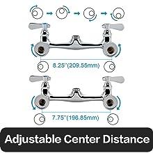 8 inch adjustable center distance