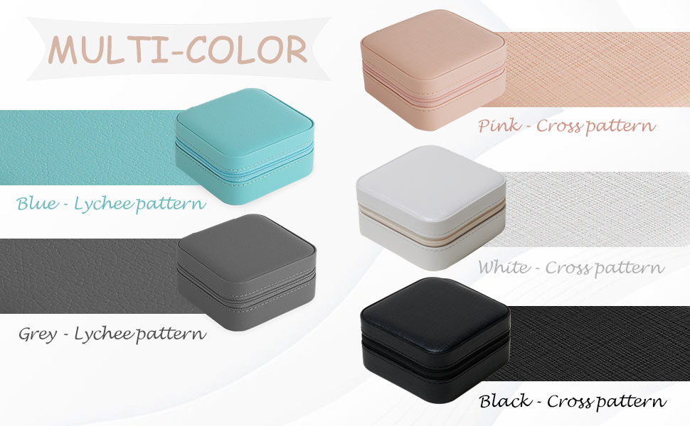 jewelry storage box in 5 colors