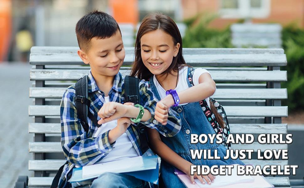 BOYS AND GIRLS  WILL JUST LOVE  FIDGET BRACELET
