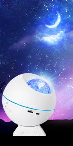 Projecteur Ciel Etoile Planetarium Projecteur LED Veilleuse Enfant Océan Galaxie Lampe Projecteur