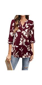 flower tunic shirts