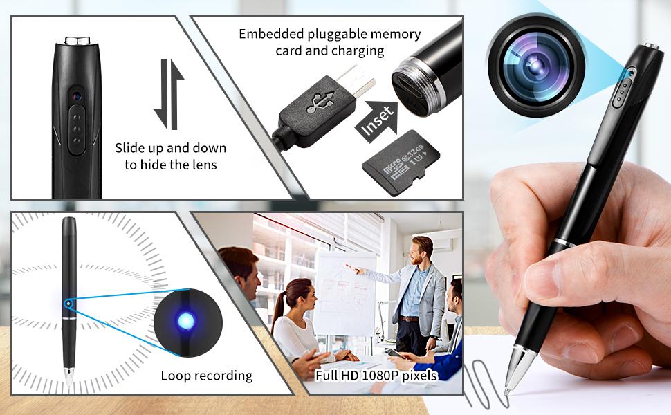 相机笔产品的细节特写