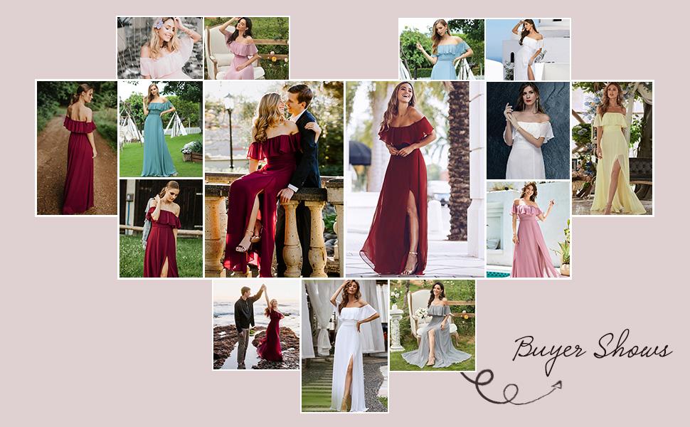 Ever-Pretty womens maxi party dresses formal dresses long evening gowns ruffles wedding guest dress