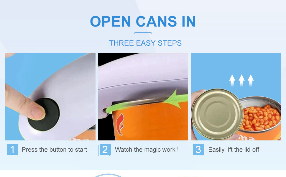 open cans in three easy steps