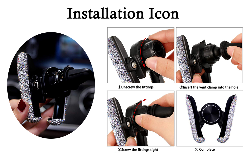 Bling Car Mount Stand Phone Holder