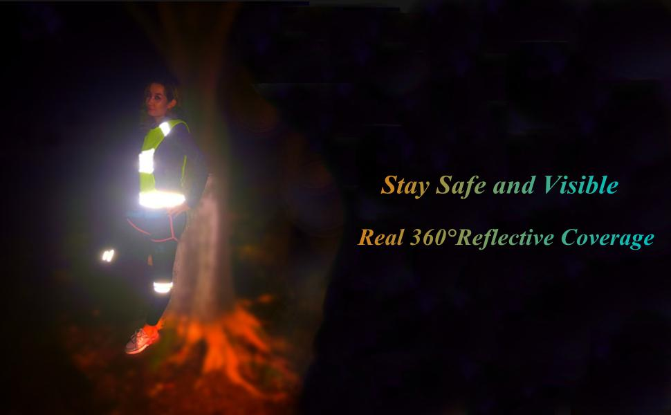 Stay Safe and Visible Real 360°Reflective Coverage