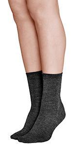calcetines lana merino calientes calidos invierno invernale senora mujer frio fino suave media corto