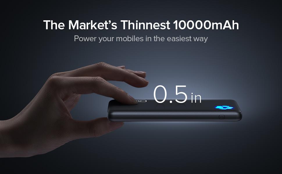 INIU the thinnest 10000mAh power bank