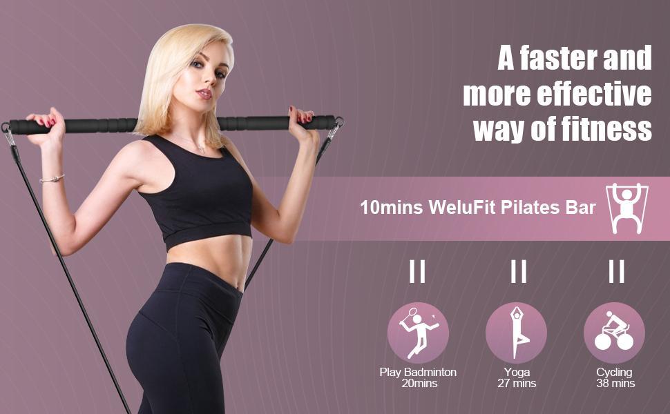 workout equipment for women elastic band squat bar exercise band pilates equipment