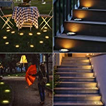 solar powered ground lights