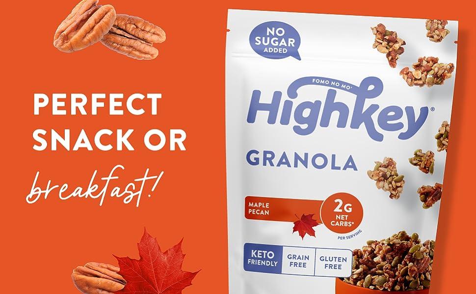 keto granola low carb granola low sugar granola keto breakfast keto treats keto maple granola