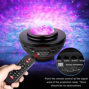 Starry Projector with Remote Control for Bedroom Ceiling