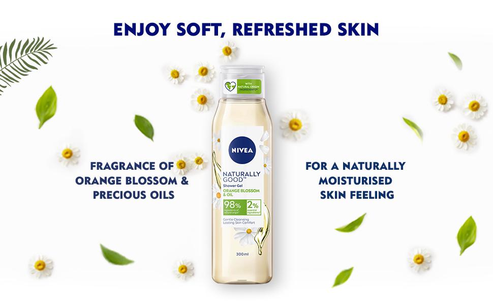 NIVEA,Women, Shower Gel,Body Wash, Natural Ingredients, Nourishment,Moisturization,