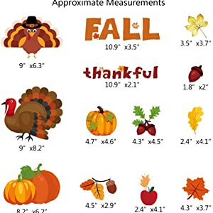 thanksgiving cling stickers