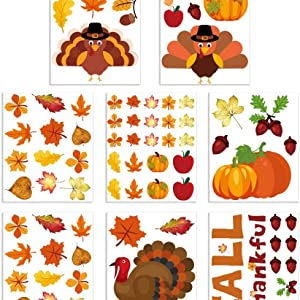 Thanksgiving Window Clings