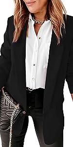 womens open front blazer